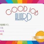 Good Job Certificate   Certificate Templates, Good Job with regard to New Good Job Certificate Template