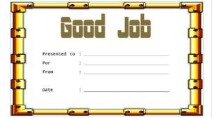 Good Job Certificate Template Free Download 3 In 2020 intended for Good Job Certificate Template