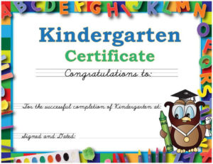 Graduation Caps And Gowns For Kindergarten Daycare And pertaining to Unique Daycare Diploma Certificate Templates