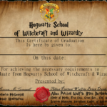 Graduation Certificate 1Captainjackharkness | Harry within Harry Potter Certificate Template
