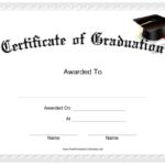 Graduation Certificate Printable Certificate | Graduation Inside Free Printable Graduation Certificate Templates