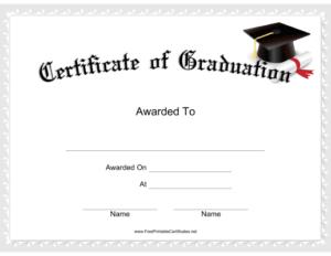 Graduation Certificate Printable Certificate | Graduation with regard to Grade Promotion Certificate Template Printable