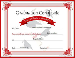 Graduation Certificate Template For Ms Word Download At Http regarding Best Professional Certificate Templates For Word