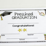Graduation Certificates And Class Awards For Preschool With Unique Editable Pre K Graduation Certificates