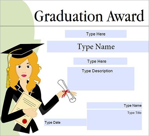 Graduation Gift Certificate Template Free | Certificate within Graduation Gift Certificate Template Free