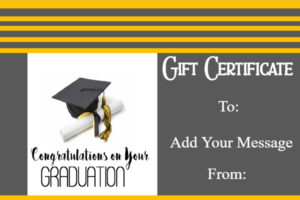 Graduation Gift Certificate Template – Free & Customizable within Graduation Gift Certificate Template Free