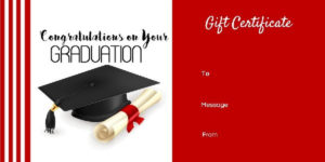 Graduation Gift Certificate Templates – 101 Gift Certificate for Graduation Gift Certificate Template Free
