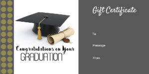 Graduation Gift Certificate Templates – 101 Gift Certificate in Unique Graduation Gift Certificate Template Free