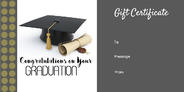 Graduation Gift Certificate Templates - 101 Gift Certificate in Unique Graduation Gift Certificate Template Free