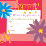 Greek Anemone Mother'S Day Gift Certificate Template In Mothers Day Gift Certificate Templates