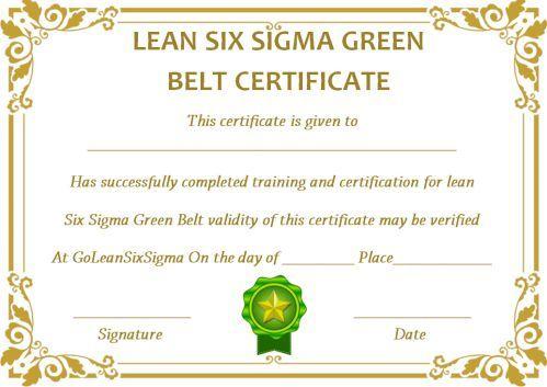 Green Belt Certificate: 10 Unique And Beautiful Templates intended for Green Belt Certificate Template