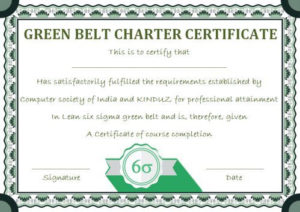 Green Belt Certificate: 10 Unique And Beautiful Templates Throughout Quality Green Belt Certificate Template