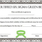 Green Belt Certificate: 10 Unique And Beautiful Templates With Regard To Quality Green Belt Certificate Template