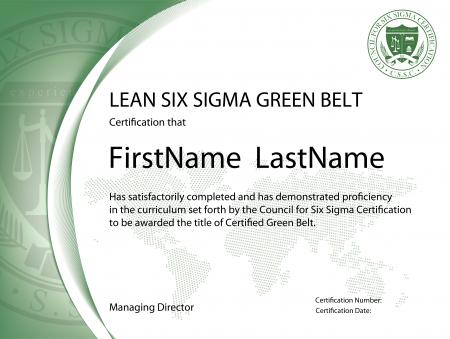 Green Belt Certificate Template (1) - Templates Example for Green Belt Certificate Template