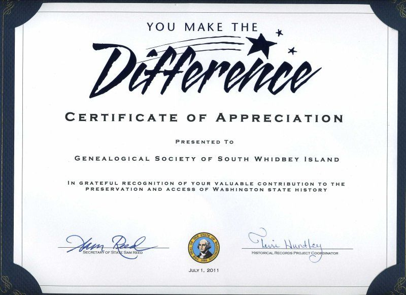 Gsswi: Awards | Certificate Of Recognition Template with regard to Quality Volunteer Award Certificate Template