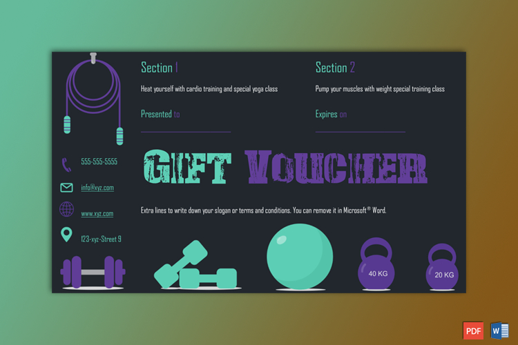 Gym Sections Gift Certificate Template - Gct pertaining to Quality Fitness Gift Certificate Template
