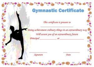 Gymnastic Certificate: Creative Certificates Free To inside Gymnastics Certificate Template