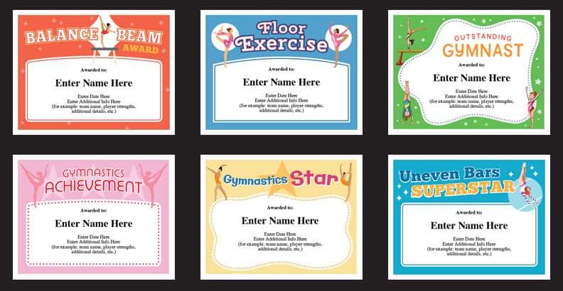 Gymnastics Certificates Templates | Gymnast Award Certificate intended for Gymnastics Certificate Template