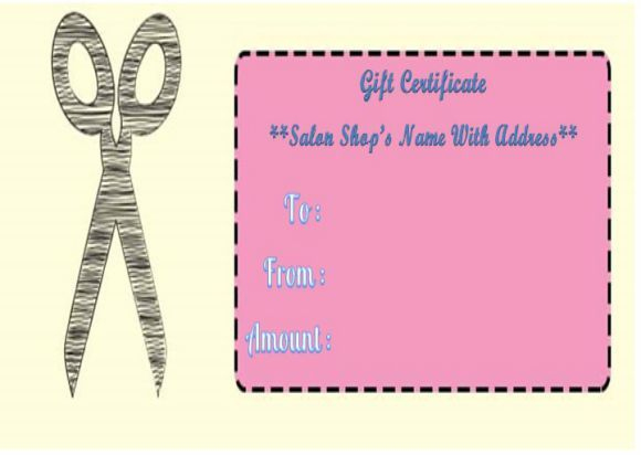 Haircut Gift Certificate Templates   Gift Certificate throughout Free Printable Hair Salon Gift Certificate Template
