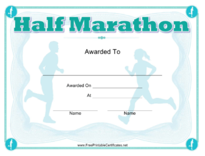 Half Marathon Award Certificate Template Download Printable intended for Quality Marathon Certificate Templates
