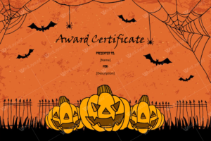 Halloween Award Certificates – 5+ Printables For Microsoft Word in Quality Halloween Certificate Template