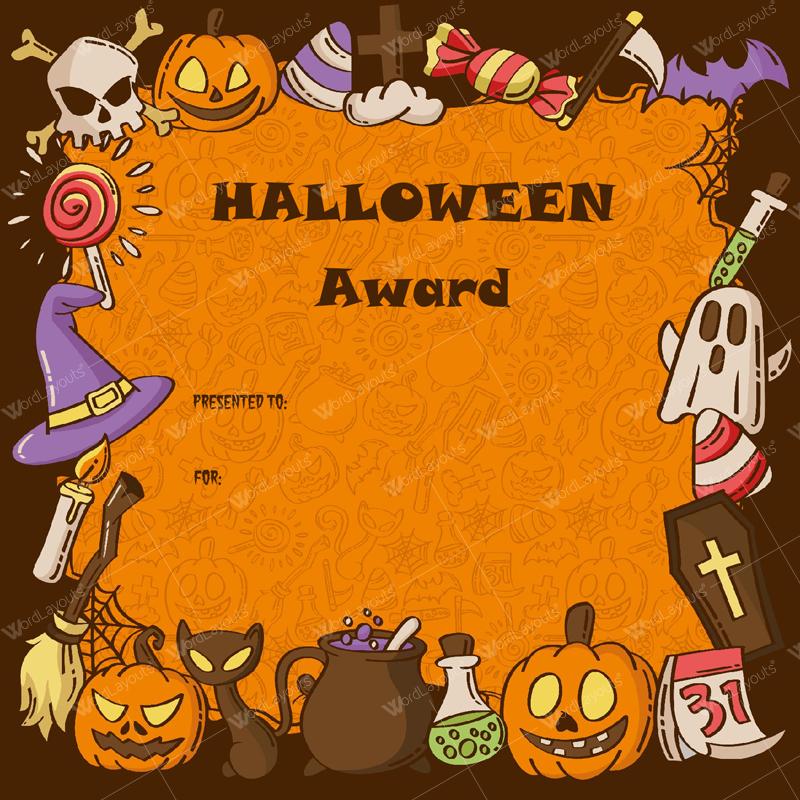 Halloween Award Certificates - 5+ Printables For Microsoft Word inside Halloween Certificate Template