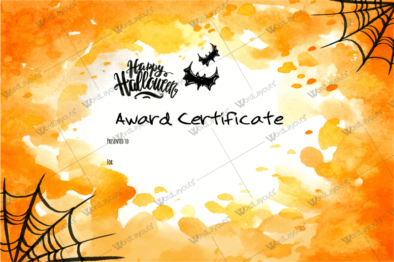 Halloween Award Certificates - 5+ Printables For Microsoft Word with regard to Fresh Halloween Costume Certificates 7 Ideas Free