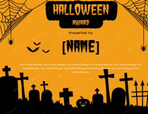 Halloween Award Certificates – 5+ Templates For Microsoft Word intended for Quality Halloween Certificate Template