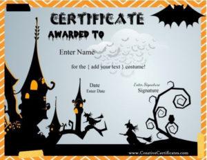 Halloween Award Certificates | Printable Halloween throughout Best Halloween Costume Certificate