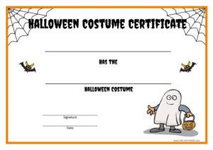 Halloween Costume Certificate – Free Printable with Halloween Costume Certificate