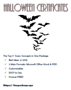 Halloween Costume Certificate Template Free In 2020   Cool with Halloween Costume Certificates 7 Ideas Free