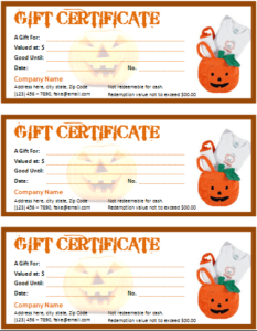 Halloween Gift Certificate For Word | Office Templates Online inside Fresh Halloween Gift Certificate Template Free