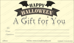 Halloween Gift Certificate Templates | Gift Certificate inside Halloween Gift Certificate Template Free