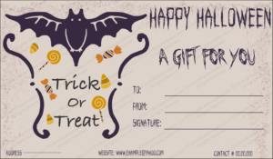 Halloween Gift Gift Template 2 – Create Halloween Certificates intended for Halloween Gift Certificate Template Free