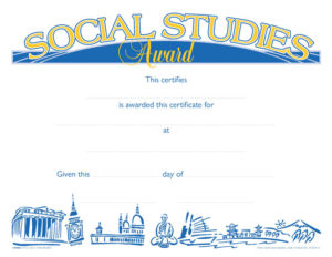 Hammond & Stephens Raised Print Social Studies Recognition Award, 11 X  8 1/2 Inches, Pack Of 25 For New Social Studies Certificate Templates