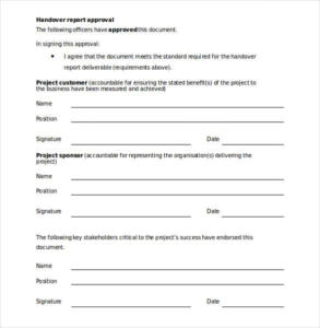 Handover Certificate Template (2) – Templates Example pertaining to Handover Certificate Template