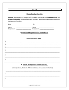 Handover Certificate Template (6) – Templates Example with regard to Handover Certificate Template