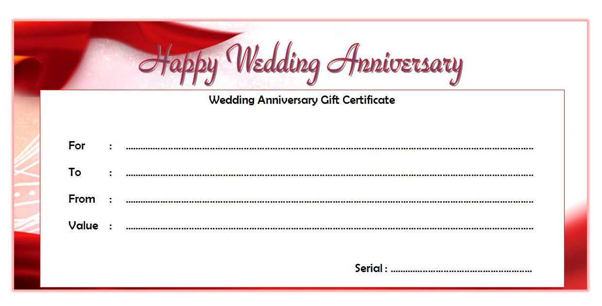 Happy Anniversary Gift Certificate Template Free 6 | Happy regarding Unique Anniversary Gift Certificate Template Free