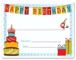 Happy Birthday Certificate Templates   Birthday Certificate for Happy Birthday Gift Certificate