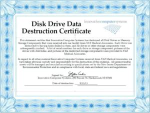 Hard Drive Destruction Certificate Template (1) – Templates regarding Best Hard Drive Destruction Certificate Template