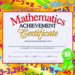 Hayes Mathematics Achievement Certificate, 8 1/2 X 11 In For Math Award Certificate Templates