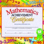 Hayes Mathematics Achievement Certificate, 8-1/2 X 11 In throughout Math Achievement Certificate Printable