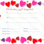 Heart Border Gift Certificate Template – Gift Certificates With New Valentine Gift Certificate Template