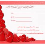 Heart Wish Gift Certificate Template   Gift Certificate Pertaining To Valentine Gift Certificate Template