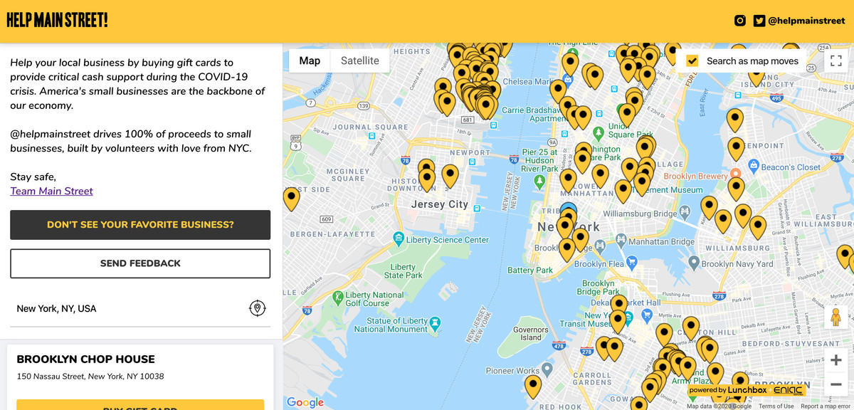 Help Main Street Is A New App That Aggregates Restaurant regarding Restaurant Gift Certificates New York City Free