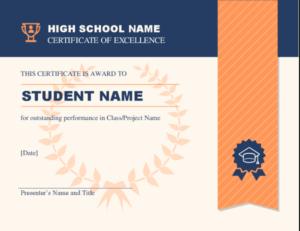 High School Achievement Certificate within Academic Achievement Certificate Templates