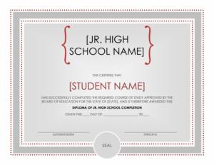 High School Certificate Template – Word Templates regarding Unique Certificate Templates For School