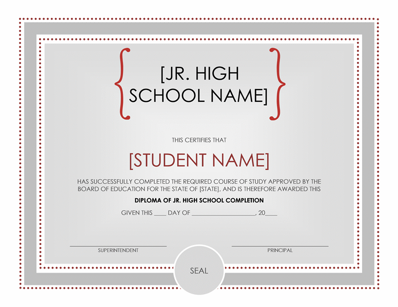 High School Certificate Template - Word Templates regarding Unique Certificate Templates For School