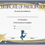 Hip Hop Certificate Template Free For Participation In Dance intended for Hip Hop Certificate Templates