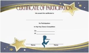 Hip Hop Certificate Template Free For Participation In Dance regarding Dance Certificate Template
